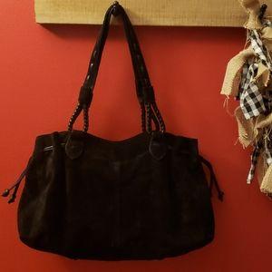 J.Jill 100% leather black handbag